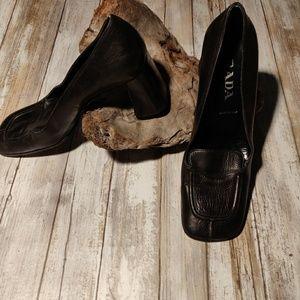 Prada heeled loafers